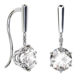 1.5Ct Round Brilliant Cut Solitaire Diamond Drop Earrings 1 1 2