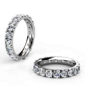 10 Point Diamond Eternity Wedding Band 1