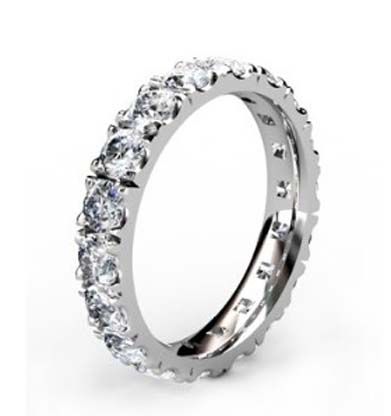 10 Point Diamond Eternity Wedding Band 2