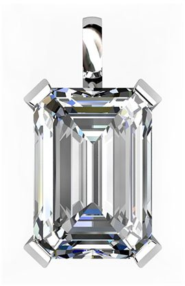 2Ct Emerald Cut Diamond Pendant 2 2