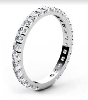 3 quarters set cut down diamond set wedding ring 4
