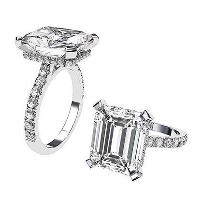 5Ct Emerald Cut Diamond Ring 1 2