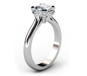 Asscher Cut Diamond Halo Engagement Ring 4 2