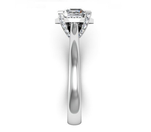 Asscher Cut Diamond Halo Engagement Ring 5 2