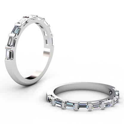 Baguette End Set Diamond Wedding Band 1