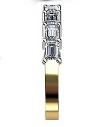 Baguette claw set diamond wedding ring 5