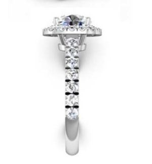 Brilliant Cut Diamond Square Halo Engagement Ring 5 2