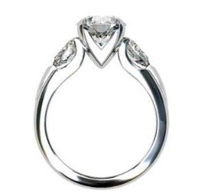 Brilliant Cut Round Diamond Three Stone Engagement Ring 3 2