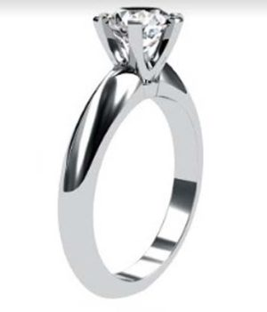 Brilliant Cut Round Solitaire Diamond Engagement Ring with Six Prongs 4 2