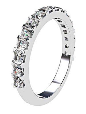 Carre Cut Diamond Half Eternity Band 3