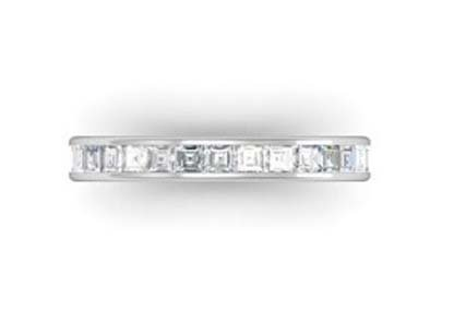 Channel set Carre cut diamond ring 2