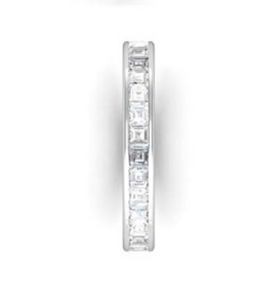 Channel set Carre cut diamond ring 5