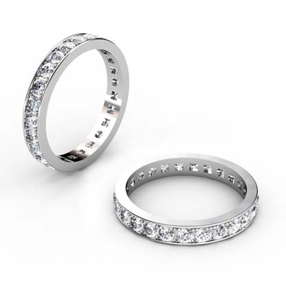 Classic Pave Set Diamond Eternity Band 1 2