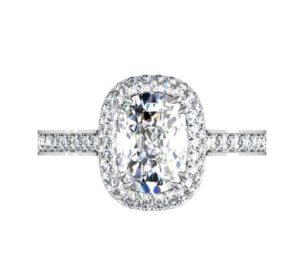 Cushion Cut Diamond Double Halo Engagement Ring 2 2