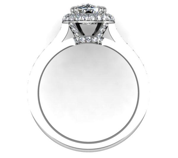 Cushion Cut Diamond Double Halo Engagement Ring 3 2