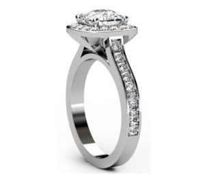 Cushion Cut Diamond Halo Engagement Ring 4 2