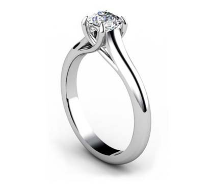 Cushion Cut Diamond Solitaire Engagement Ring with Crossed Claws 4 2