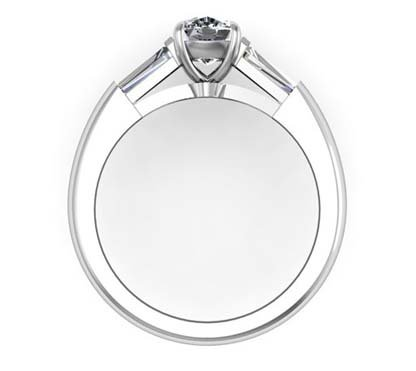 Cushion Cut Diamond Three Stone Engagement Ring 3 2