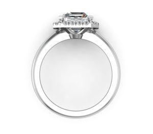 Custom Made Asscher Cut Halo Diamond Engagement Ring 3 2