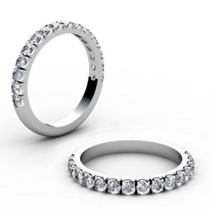 Cut Down Diamond Half Eternity Band 1
