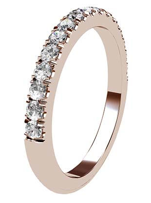 Cut Down Diamond Half Eternity Band in Rose Gold 3