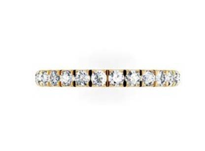 Cut Down Diamond Half Eternity Wedding Ring in Yellow Gold 2