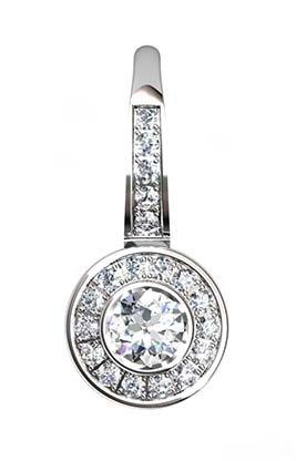 Diamond Bezel Drop Earrings 2 2