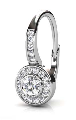 Diamond Bezel Drop Earrings 3 2