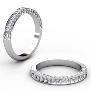 Diamond edge set pave wedding ring 1