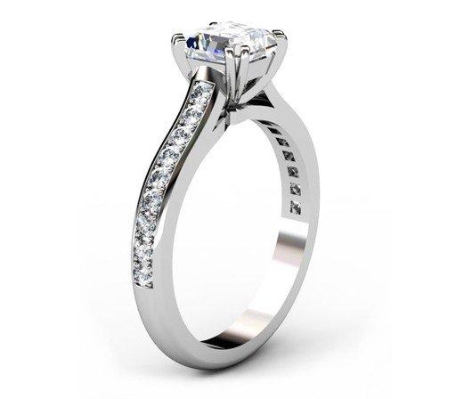 Double Claw Asscher Cut Diamond Engagement Ring 4 2