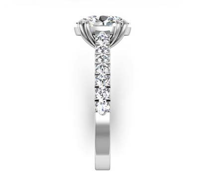 Double Prong Oval Shape Diamond Engagement Ring 5 2