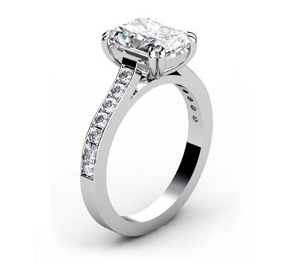 Double Prong Radiant Cut Diamond Engagement Ring 4 2