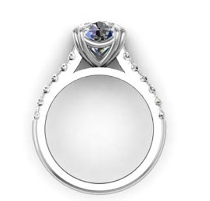 Double Prong Round Brilliant Cut Diamond Engagement Ring 3 3