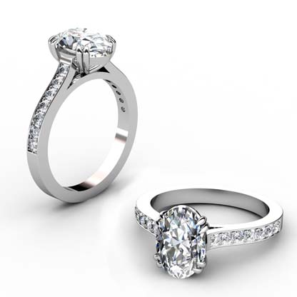 Double Prong Two Carat Oval Diamond Engagement Ring 1 2