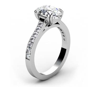 Double Prong Two Carat Oval Diamond Engagement Ring 4 2