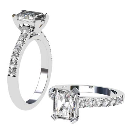 Emerald Cut Diamond Engagement Ring 1 2