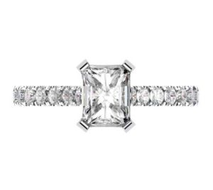 Emerald Cut Diamond Engagement Ring 2 2