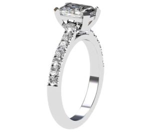 Emerald Cut Diamond Engagement Ring 4 2