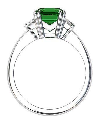 Emerald and Cadillac Diamond Ring 3 2
