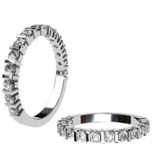 End Set Diamond Wedding Band 1