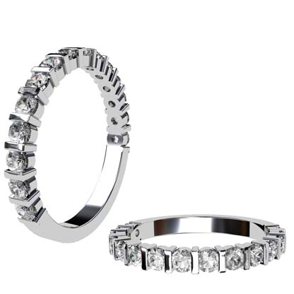 End Set Diamond Wedding Band 1