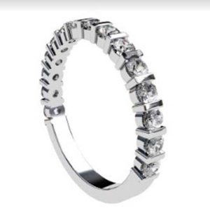 End Set Diamond Wedding Band 2