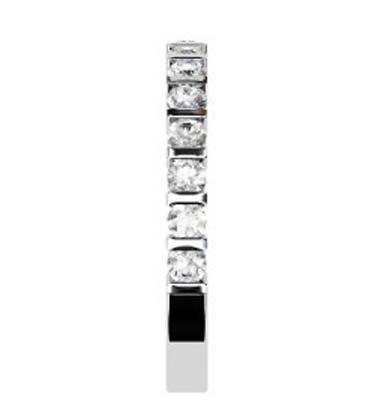 End Set Diamond Wedding Band 5