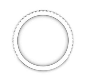 Fine Cut Down Set Diamond Wedding Ring 3