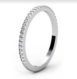 Fine Cut Down Set Diamond Wedding Ring 4