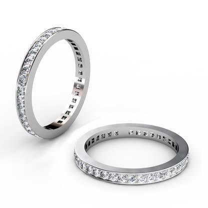 Fine pave set diamond wedding band 1 1