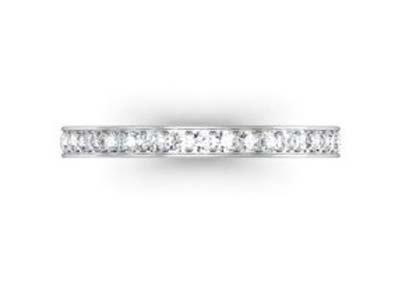 Fine pave set diamond wedding band 2