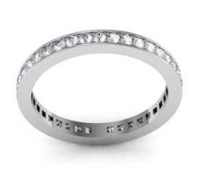 Fine pave set diamond wedding band 3