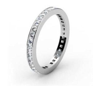 Fine pave set diamond wedding band 4