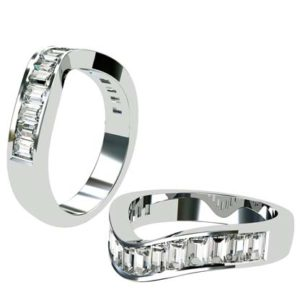 Fitted Baguette Diamond Channel Set Wedding Ring 1